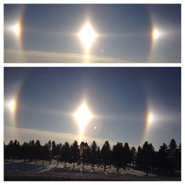Pictures of Sun Dogs - Instagram User - klc_kay