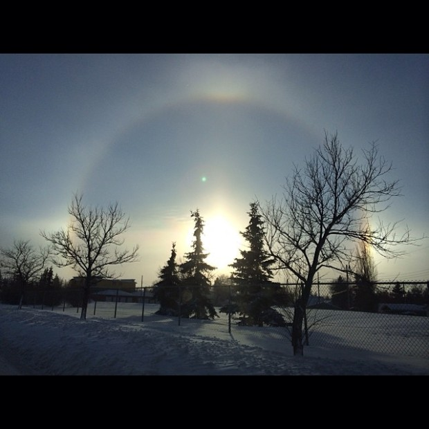 Pictures of Sun Dogs - Instagram User - twopurplebeans