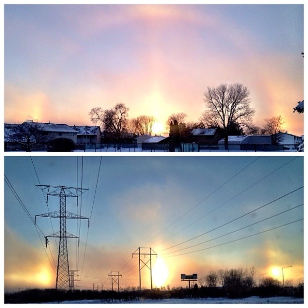 Pictures of Sun Dogs - Instagram User - wavy_baby